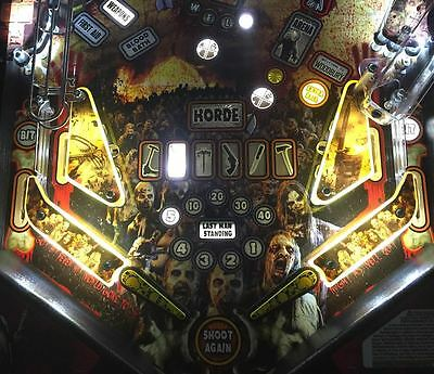 Yellow Slingshot & Return Lane Protector Set for The Walking Dead pinball