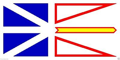 New 3' by 5' Newfoundland Flag. Free Shipping inside Canada and to the USA!