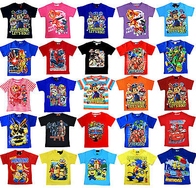 NEW Sz 1~12 PAW PATROL T-SHIRT TOP TEE DRESS KIDS TSHIRT BOYS GIRLS OUTFIT TEES