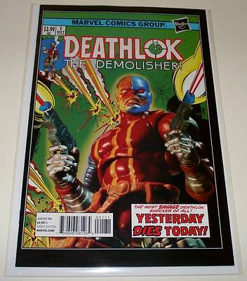 DEATHLOK # 1  Marvel Comic  Dec 2014   NM  1:15 HASBRO VARIANT COVER EDITION