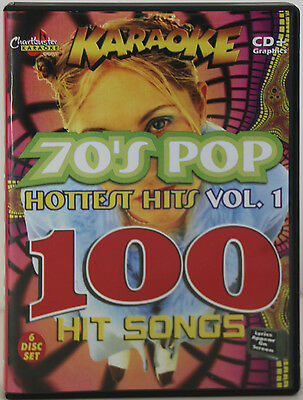 Karaoke CD+G 100 Songs on a 6 Disc Set Includes Song List C-B 70's Pop Hitsvol-1