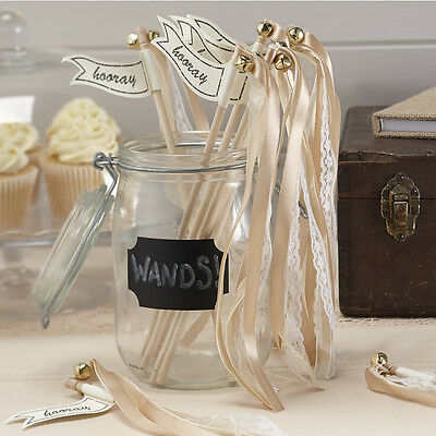 Vintage  Affair - Wedding Wands  - Gold