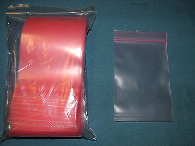 "100 New - ULINE S-1324  Resealable Anti-Static Bags   4"" X 6"""
