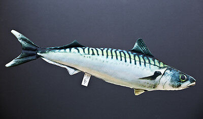 Mackerel Soft Toy, Stuffed Fish, pillow, bar, pub, restaurant, fishing, angling