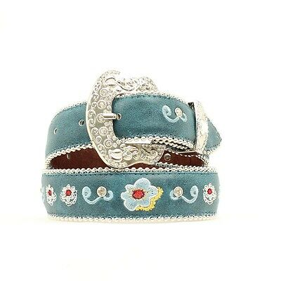 "BLAZIN ROXX - Girl's Belt 1.25"" - Embroidered Floral - Turquoise - ( N4416233 )"