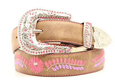 "BLAZIN ROXX - Girl's Belt 1.25"" - Embroidered Floral - Brown - ( N4434202 )"