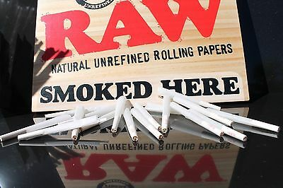 RAW Organic 1 1/4 Size Pre-Rolled Cones with Filter (Box of 125 Cones)