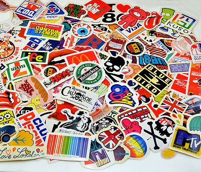 Luggage Stickers Random Mixed Pack Car Motorcycle Skateboard Guitar Fridge Decal