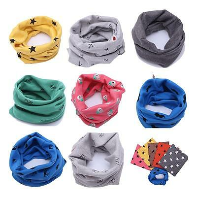 Scarf Chirldren Boys Girls Unique O Ring Knitted Baby Child Candy Color HF