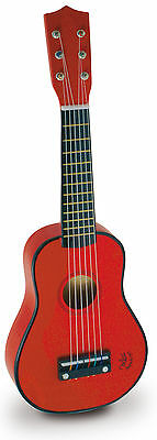 Vilac Red Guitar Toddler/Child Music Instrument Strings Wooden Melody Song BNIB