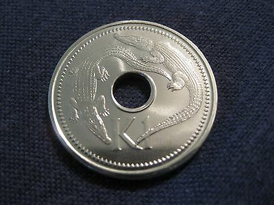 "2005 Papua New Guinea Coin, 1 Kina  ""Gators""   Uncirculated Beauty reptile coin"