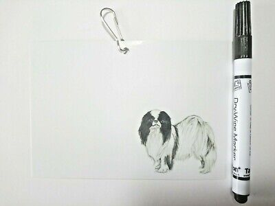 Japanese Chin Cage/Crate Identification ID Tag for Dog Shows KC Requirement