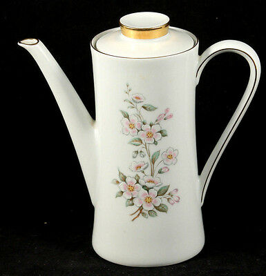 Vintage Mitterteich Bavaria Coffee/Tea Pot Gold Trim with Delicate Pink Flowers