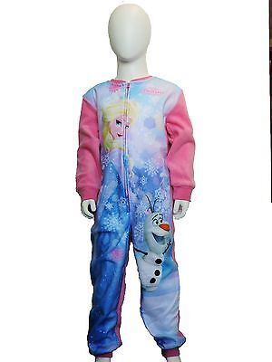 Girls Disney Frozen Fleece all in one /pyjamas/all-in-one/nightwear age 4-10 yrs