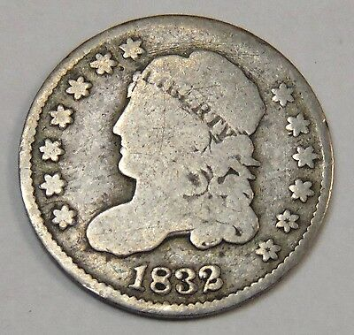 1832 U.S. Half Dime - All Letters of Liberty Visible *FREE SHIP*