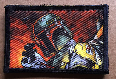 "Star Wars ""Boba Fett"" Bounty Hunter Morale Patch Tactical ARMY Hook Military USA"