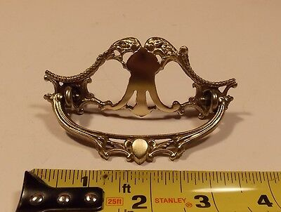 Vintage Ornate Brass pull (two available)