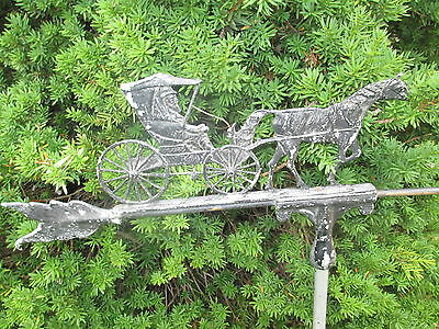 Antique Vintage Amish Horse & buggy weather vane VHTF! Nice old piece of history