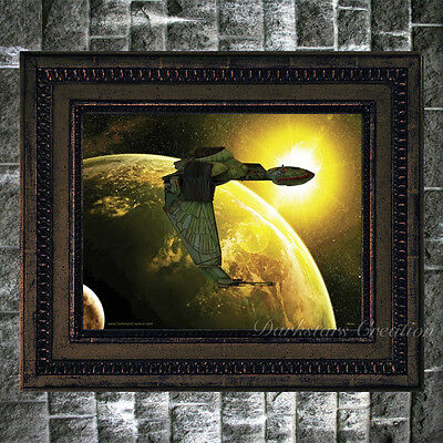 """Sunsise"" Klingon Bird Of Prey - Star Trek Fan - Art Print - Darkstars Creation"
