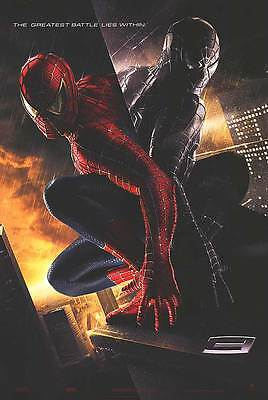 Spider-Man 3 Adv B Embossed The Greatest Battle Movie Poster 27x40 TwoSided Orig