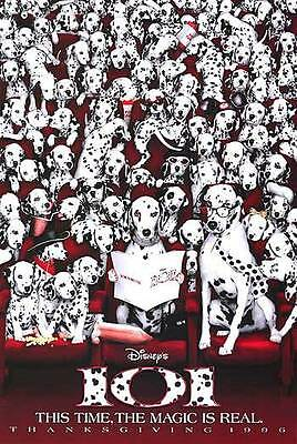 101 Dalmatians Advance Single Sided Original Movie Poster 27x40 inches