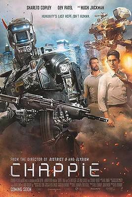"Chappie iNTL Ver B Two Sided 27""x40' inches Original Movie Poster Neill Blomkamp"
