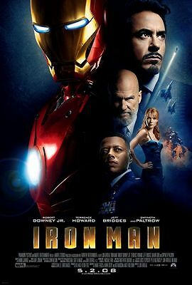 "Iron Man Final One Sided 27""x40' inches Original Movie Poster by Marvel"