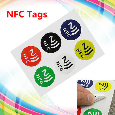 6x NTAG216 Chip 888 Bytse Writeable Programmable NFC Smart Tags for Smart Phone