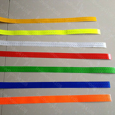 "Safety Caution Reflective Warning Tape Sticker self adhesive Tape 25mm 1"" Width"