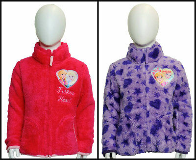 Girls Disney Frozen Coral Fleece Jacket age 4 Years up to 10 Years