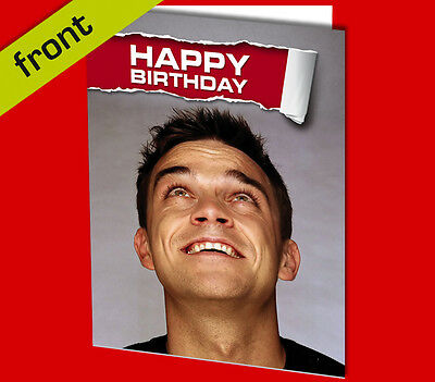 JUSTIN BIEBER BIRTHDAY CARD Top Quality Repro Autograph Signed A5 Pre Printed Autographs
