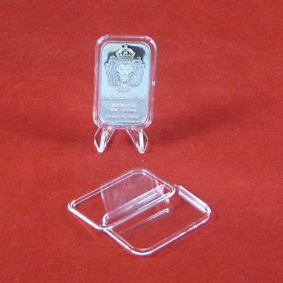 5 Air-Tite 1 oz Silver Bar Direct Fit Bar Holder Capsules