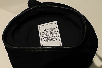 Canadian Forces Black Armoured Corps Leather Sweatband Beret Size 6 3/8