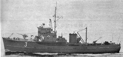 BYMS Minesweeper, Minensuchboot. US Navy. Modellbauplan RC
