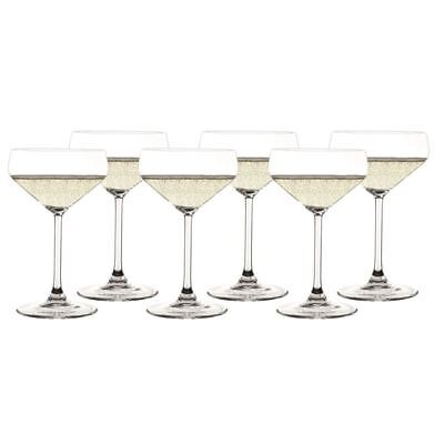 Zuhause - Style Champagne 290ml Saucer set 6<br>(Made in Germany)