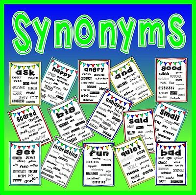 Cd Synonyms Posters Teaching Resources English Creative Writing Vocabulary