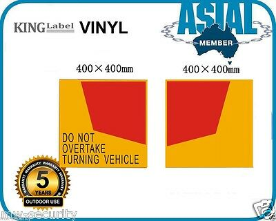 Special! 40cm Vinyl Do Not Overtake Turning Vehicle Sign Truck sticker