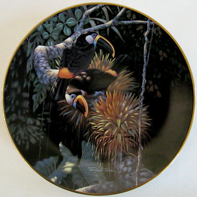 """""""CUVIER'S TOUCANS"""" Parrots Bird SLOAN Plate Miracles of Rainforest Exotic"""