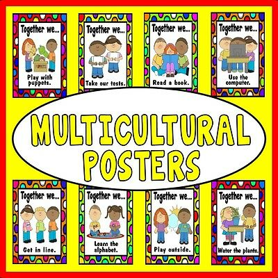 Cd Diversity And Multicultural Posters Teaching Resources Display Eyfs Ks 1-2