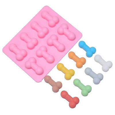 Funny Penis Sharped Silicone Ice Cube Tray Cake Chocolate Mold Baking Mould