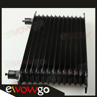 Universal 13 Row 10AN AN-10 Engine Transmission Oil Cooler Trust Style Black