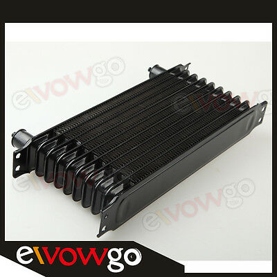 Universal 10 Row 10AN AN10 Engine Transmission Oil Cooler Trust Style Black