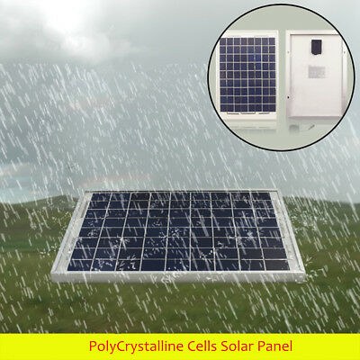 10W 12V Polycrystalline Cells Solar Panel  Poly Battery Charger Power Generator