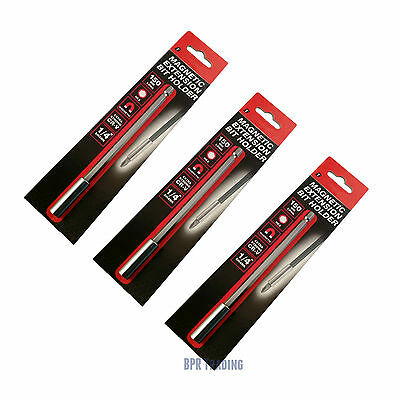 """1, 2 or 3pc  Magnetic Bit Holders Extension1/4"""" Hexagon Screwdriver Drill 150mm"""