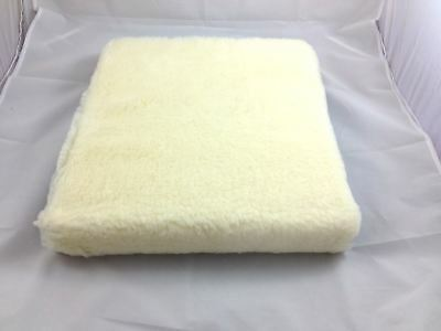 "15x17x2"" Lambswool cover Wheelchair Cushion comfort natural pressure relief"