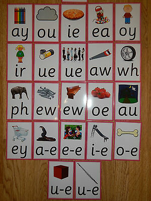 Phase 5 Graphemes/sounds & pictures- Flash cards - Phonics Resource - EYFS / KS1