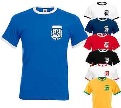 Argentina World cup 2014 final football shirt top Brazil Rio Name and number