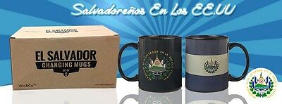Set of 2 Changing Mugs El Salvador  Free Shipping