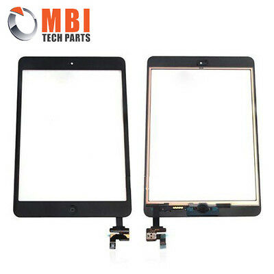 Replacement Touch Screen Glass Digitizer IC Home Button iPad Mini 1 + 2 Black