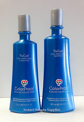 ColorProof TruCurl Curl Perfecting Shampoo 10.1oz Condition 8.5oz Duo